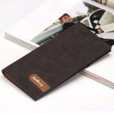 ขาย Baellerry กระเป๋าสตางค์ ผู้ชาย กระเป๋าเงิน กระเป๋าตัง บาง ทรงยาว Men Wallet Business Style Long Pattern Pu Leather Wallet For Men ฺblack ถูก