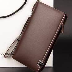 ความคิดเห็น Baellerry กระเป๋าสตางค์ ผู้ชาย กระเป๋าเงิน กระเป๋าตัง บาง ทรงยาว Men Wallet Business Style Long Pattern Pu Leather Wallet For Men Brown