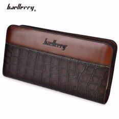 ซื้อ Baellerry กระเป๋าสตางค์ ผู้ชาย กระเป๋าเงิน กระเป๋าตัง บาง ทรงยาว Men Wallet Business Style Long Pattern Pu Leather Wallet For Men Brown Baellerry ออนไลน์
