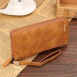 ขาย Baellerry กระเป๋าสตางค์ ผู้ชาย กระเป๋าเงิน กระเป๋าตัง บาง ทรงยาว Men Wallet Business Style Long Pattern Pu Leather Wallet For Men Brown