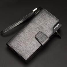 ขาย ซื้อ Baellerry กระเป๋าสตางค์ ผู้ชาย กระเป๋าเงิน กระเป๋าตัง บาง ทรงยาว Men Wallet Long Pattern Pu Leather Wallet For Men Silver ใน กรุงเทพมหานคร