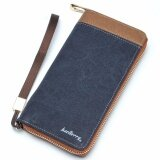ราคา Baellerry Men Zipper Long Purses Card Holder Large Capacity Clutches Long Wallet(Blue) Intl Baellerry ใหม่
