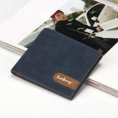 โปรโมชั่น Baellerry ผู้ชายกระเป๋าสตางค์สั้นกระเป๋าสตางค์ สีน้ำเงินเข้ม นานาชาติ Baellerry ใหม่ล่าสุด