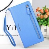 ราคา Baellerry New Ladies Women Multi Functional Ladies Wallet Long Section Zipper Phone Bag Blue Intl Baellerry เป็นต้นฉบับ