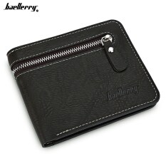 ราคา Baellerry Open Zipper Letter Embellishment Men Short Wallet เป็นต้นฉบับ