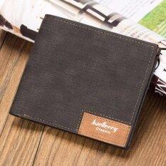 ขาย Baellerry กระเป๋าสตางค์ ผู้ชาย กระเป๋าเงิน กระเป๋าตัง บาง ทรงสั้น Wallet Mens Luxury Leather Credit Id Card Holder Baellerry Billfold Coin Purse Black ถูก ใน กรุงเทพมหานคร