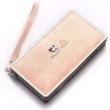 ส่วนลด สินค้า Baellerry Women Wallets Zipper Long Purses Card Holder Large Capacity Lady Clutches Women Coin Purse(Pink) Intl