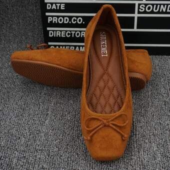 2019 ใหม่เข้าได้หลายชุดบัลเล่ต์แบนสไตล์เกาหลีรองเท้า Tods Schick ลำลองรองเท้าสตรีมีครรภ์รองเท้าคุณแม่ไซส์พิเศษไซส์ใหญ่พิเศษรองเท้าสตรี