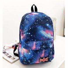 Bag Dd กระเป๋าเป้สะพายหลัง กระเป๋าลายกราฟฟิก ฟรุ้งฟริ้ง รุ่น666 สีฟ้า เป็นต้นฉบับ