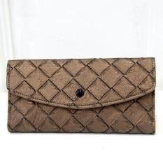 ราคา Bag Fashion กระเป๋าสตางค์ใบยาว กระเป๋าเงินผู้หญิง กระเป๋าสตางค์น่ารัก รุ่น075 สีน้ำตาล Bag Fashion เป็นต้นฉบับ