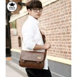 ขาย ซื้อ Bag Sunee กระเป๋าสะพายข้างผู้ชาย สีน้ำตาล Three Box หนังPu ของแท้ 100