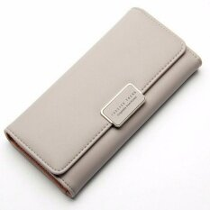ซื้อ Bamboo กระเป๋าสตางค์หนัง Pu ทรงยาว สีพาสเทล รุ่น Classic สีเทา Forever Young ถูก