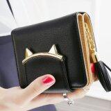ขาย Banana Shop กระเป๋าเงินผู้หญิง กระเป๋าสตางค์ ใบสั้น รุ่น Lw 013 สีดำ ผู้ค้าส่ง