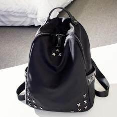 ขาย Banana Shop กระเป๋าเป้สะพายหลัง กระเป๋าเป้เกาหลี กระเป๋าสะพายหลังผู้หญิง รุ่น Lp 110 สีดำ B Nana Bag