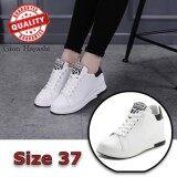 ราคา Banzai Snow Fashion รองเท้าหนังแฟชั่นเสริมสันผู้หญิง สีขาว Size 37 ใหม่