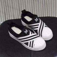 ซื้อ Banzai รองเท้าผ้าใบผู้หญิง Superstar Slip On Hys 004 สีดำ เบอร์ 37 Banzai