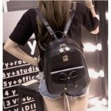 ราคา Baobao Shopกระเป๋าเป้ กระเป๋าเป้สะพายหลังผู้หญิง สไตล์เกาหลี รุ่น To11 สีดำ ออนไลน์