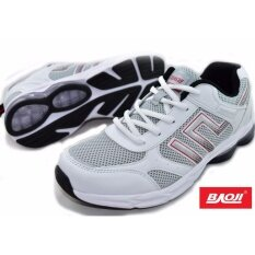 ขาย Baoji รองเท้าผ้าใบผู้ชาย Baoji Air รุ่น Bjm173 White Red Baoji ถูก