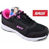 ขาย ซื้อ ออนไลน์ Baoji รองเท้าผ้าใบผู้หญิง Baoji รุ่นBjw318 Black Rose