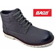 Baoji รองเท้าหนังผู้ชายหุ้มข้อ Baoji รุ่น Bx624 Grey ใน กรุงเทพมหานคร