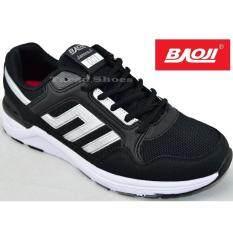 Baoji รองเท้าผ้าใบผู้ชาย Baoji รุ่น Jamesji001 Black Silver ใน กรุงเทพมหานคร