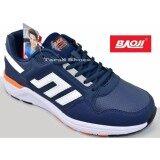 ส่วนลด Baoji รองเท้าผ้าใบผู้ชาย Baoji รุ่น Jamesji700 Navy Orange Baoji