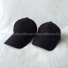 ราคา Basic Indeed หมวกแก๊ปสีพื้นขนาดเล็ก ดำ เป็นต้นฉบับ Unbranded Generic