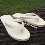 ทบทวน Basic Indeed รองเท้าแตะหูหนีบ สีขาวครีม