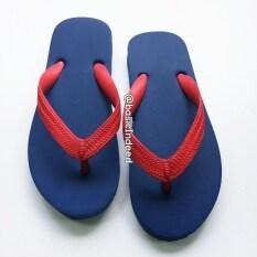 ขาย Basic Indeed รองเท้าแตะหูหนีบ สีกรมท่าหูแดง ราคาถูกที่สุด