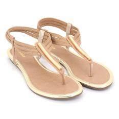 Oneprice Special Bata รองเท้าผู้หญิง ส้นแบน Ladies Flats Sandal สีเบจ รหัส 5718237 ใน Thailand