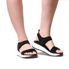 ราคา Splash New Arrival Bata รองเท้าผู้หญิงแตะลำลองแบบรัดส้น Ladies Summer Sandal สีดำ รหัส 6616386 กรุงเทพมหานคร