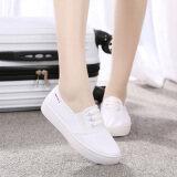 ขาย รองเท้าสีขาวในช่วงฤดูร้อนรองเท้าสีขาวเก่าปักกิ่งเพศหญิง สีขาว ราคาถูกที่สุด