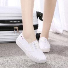 รองเท้าสีขาวในช่วงฤดูร้อนรองเท้าสีขาวเก่าปักกิ่งเพศหญิง สีขาว ใหม่ล่าสุด