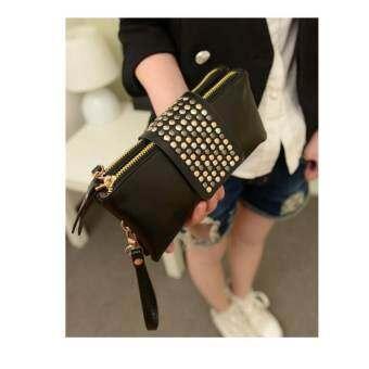 BB กระเป๋าสตางค์ใบยาว กระเป๋าเงินผู้หญิง (สีดำ) รุ่น 8011-