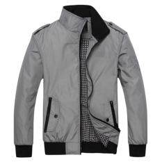 ราคา Be Chic เสื้อแจ็คเก็ตกันหนาวสำหรับสุภาพบุรุษ เสื้อกันหนาว เสื้อคลุมสำหรับใส่กันหนาวสีเทาผ้าเนื้อดี ที่สุด
