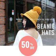 ขาย Beanie Hats หมวกไหมพรม ติดจุก Freesize