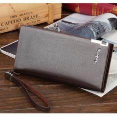Beautina กระเป๋าสตางค์ กระเป๋าตัง กระเป๋าเงิน หนังกันน้ำ สีน้ำตาล ทรงยาว Wallet Brown เป็นต้นฉบับ