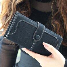 ขาย Beauty Bag กระเป๋าสตางค์ใบยาว กระเป๋าเงินผู้หญิง กระเป๋าสตางค์น่ารัก รุ่น Lw 052 ดำ Int One Size Beauty Bag ใน ไทย