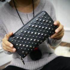ส่วนลด Beauty Bag กระเป๋าสตางค์ใบยาว กระเป๋าเงินผู้หญิง กระเป๋าสตางค์น่ารัก รุ่น Lw 114 ดำ Beauty Bag
