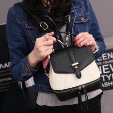 ราคา Beauty Bags กระเป๋าเป้สะพายหลัง กระเป๋าเป้เกาหลี Backpack Women กระเป๋าสะพายหลังผู้หญิง รุ่น Cp 060 สีดำ ขาว Beauty Bag ใหม่