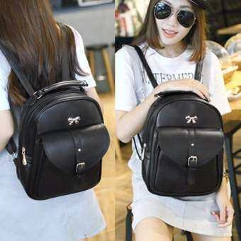 Beauty Bags กระเป๋าเป้สะพายหลัง กระเป๋าเป้เกาหลี backpack women กระเป๋าสะพายหลังผู้หญิง รุ่น CP-064 (สีดำ)