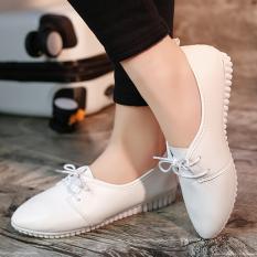 ทบทวน Beauty Shoes รองเท้าผ้าใบสีขาว รองเท้าผ้าใบผู้หญิง รองเท้าผ้าใบเกาหลี รุ่น S 010 สีขาว
