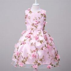 Beautymaker สาวชุดแต่งงานชุดเจ้าหญิงชุดเจ้าสาวดอกไม้อย่างเป็นทางการชุดพรรคสีชมพู Int L เป็นต้นฉบับ