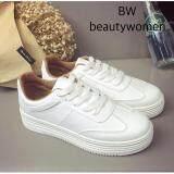ราคา Beautywomen รองเท้าผ้าใบผู้หญิง แฟชั่นเกาหลี เสริมส้น ขาเรียว รุ่นD04