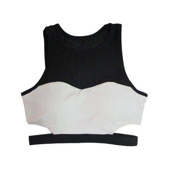 BEGINS เสื้อ ครอป ออกกำลังกาย Crop Sports Tank Top (สีขาว)