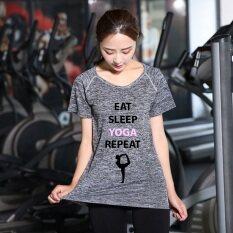 ราคา Begins เสื้อยืด ออกกำลังกาย ย้อมสี พิมพ์ลาย Dyed Sports T Shirt Sportswear สีเทา ใหม่