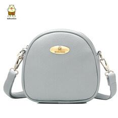 ทบทวน ที่สุด Beibaobao กระเป๋าใหม่มินิ สีเทา