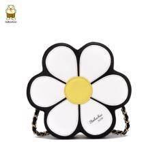 ราคา Beibaobao กระเป๋าสะพายข้างลายดอกไม้สีดำ Beibaobao0774 ที่สุด