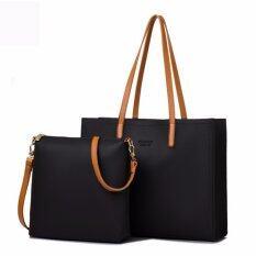 Beibaobao เซตกระเป๋าแฟชั่น 2 ใบ รุ่น Minimal Double Bag สีดำ ใหม่ล่าสุด