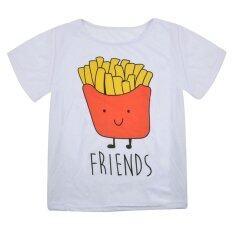 ซื้อ Best Friends Short Sleeve Crop Top Casual Summer T Shirt Chips Xl Intl Vakind